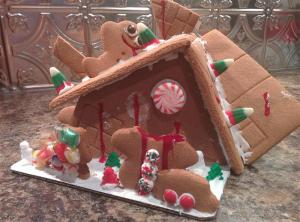 My husband's gingerbread house