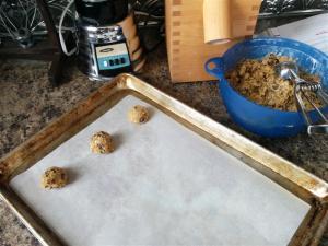 Scooping cookies