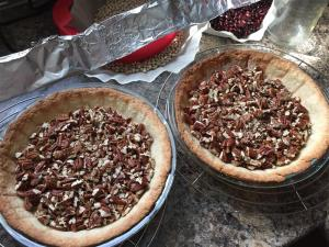 Crusts & pecans, ready for filling