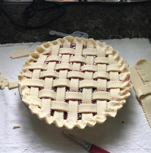 Lattice pies are so pretty