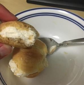 Now that's a tasty cream puff.