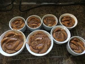 Pretty little bread puddings