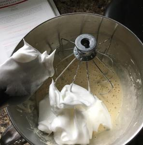Adding the meringue